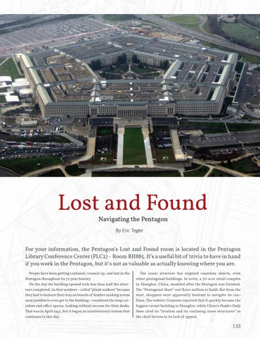 Page 141 of Lost and Found, Navigating the Pentagon