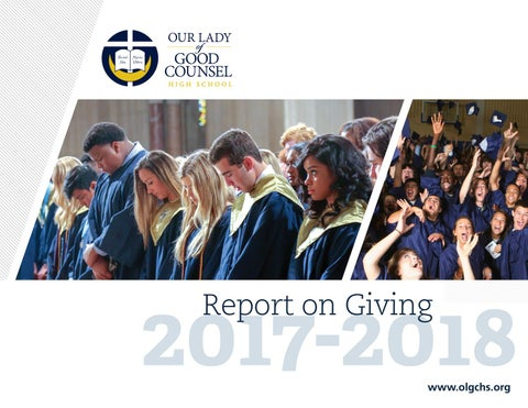 93cb39f7a606 2017–2018 Report on Giving by olgchs - issuu