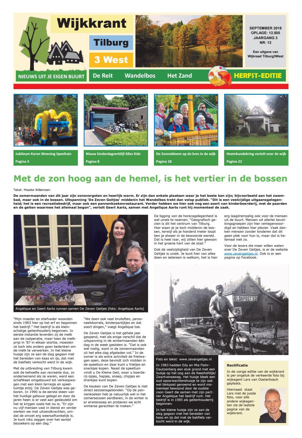 Wijkkrant herfst editie september 2018 by Wijkraad Tilburg 3