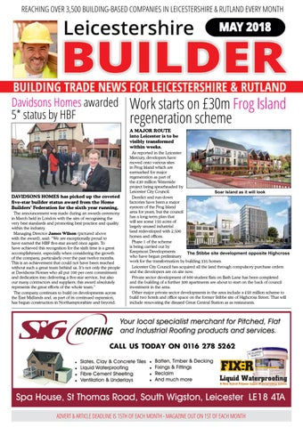 May 2018 Leicestershire Builder Magazine