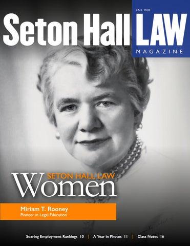 33f954fe2d9b Fall 2018 by Seton Hall Law School - issuu