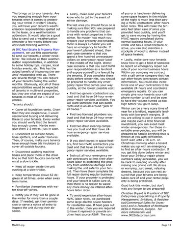 Page 13 of Get Your Property & Tenants Ready for Winter