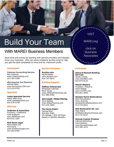 Page 17 of MAREI Business Directory