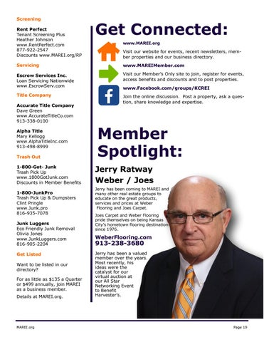 Page 19 of Member Spotlight:  Jerry Ratway