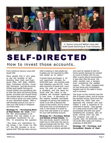 Page 7 of Self Directed Accounts - Example Deals
