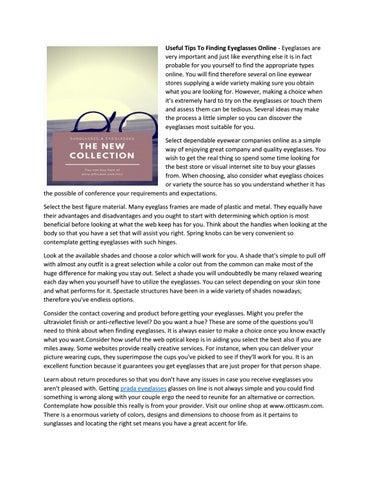 902b4bb8b3 Simple Methods To Buying Eyeglasses Online by Disnuansa - issuu