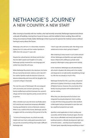 Page 21 of NETHANGIE'S JOURNEY, a new country, a new start
