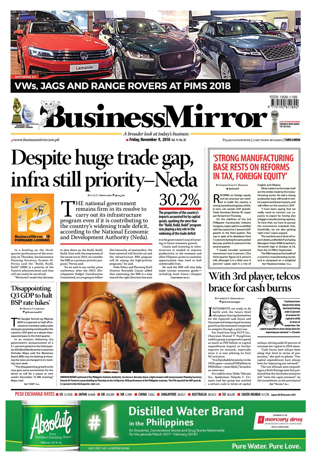 Businessmirror November 09, 2018 by BusinessMirror - issuu