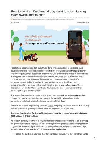 How to build an On-demand dog walking apps like wag, rover