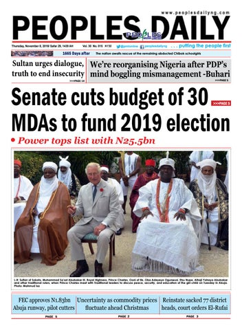 Thursday, November 8, 2018 Edition by Peoples Media Limited - issuu