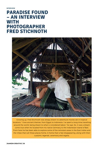 Page 39 of Paradise Found - an interview with photographer Fred Stichnoth