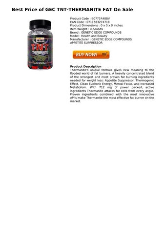 Gec Tnt Thermanite Fat Fat Burner By Sophie 197423 Issuu