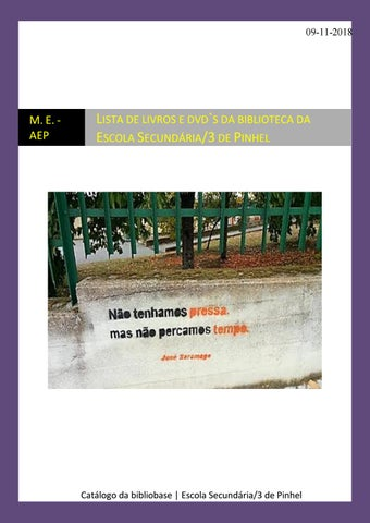 Lista de livros e DVD`s da Escola Secundária 3 de Pinhel by aepinhel ... 7a862b871c2
