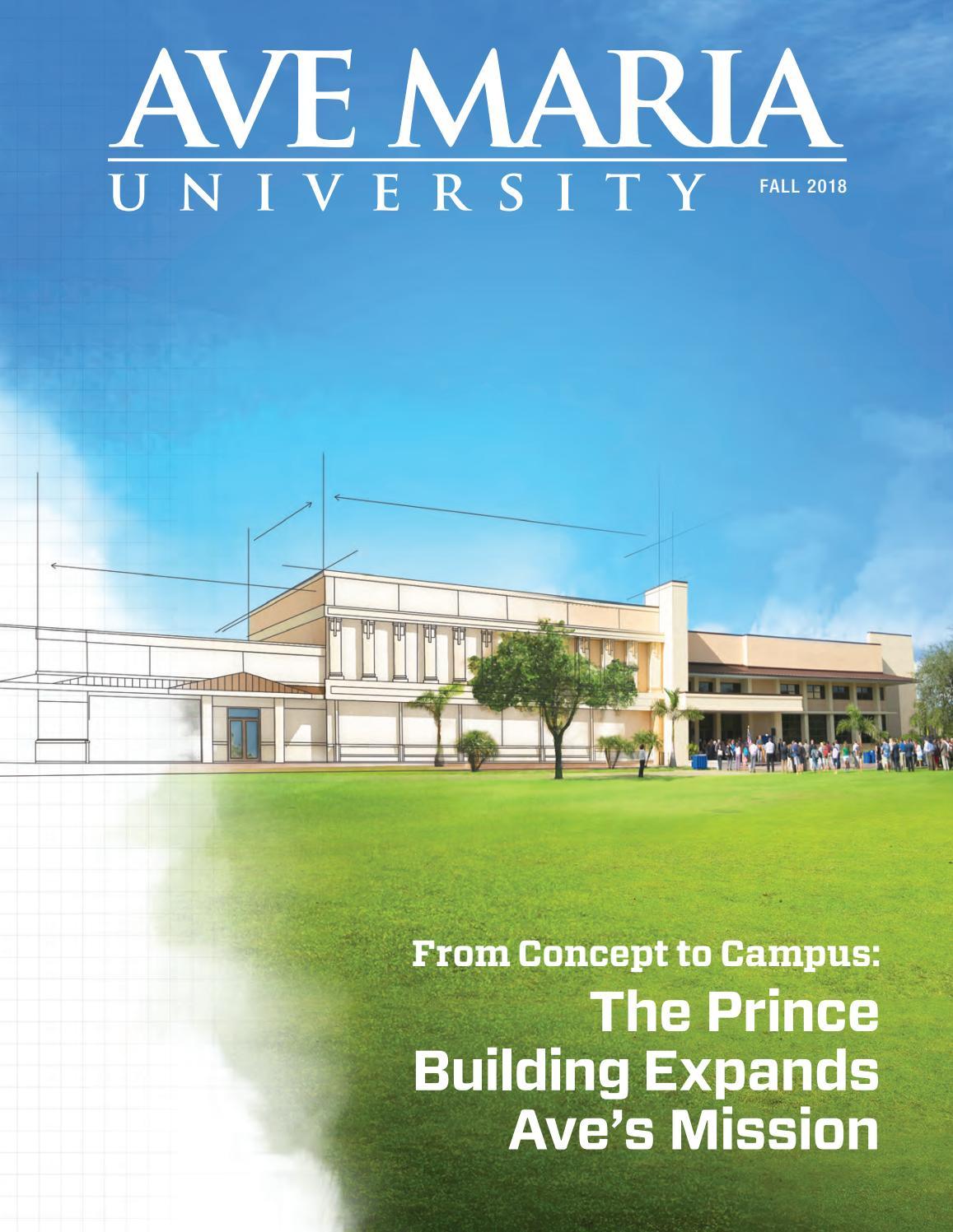Amu Magazine Fall 2018 By Ave Maria University Issuu