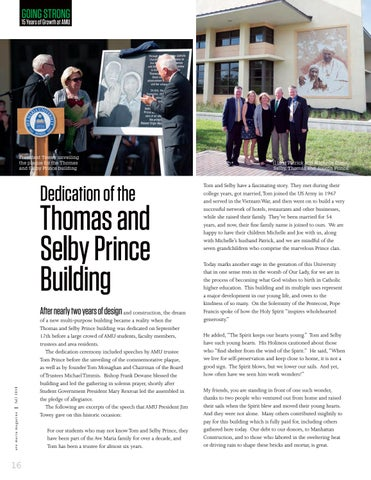 Page 18 of Dedication of the Thomas and Selby Prince Building