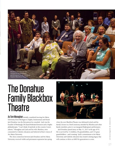Page 19 of The Donahue Family Blackbox Theatre