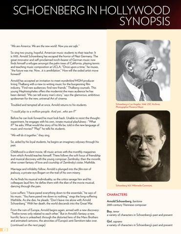 Page 4 of Synopsis of Schoenberg in Hollywood