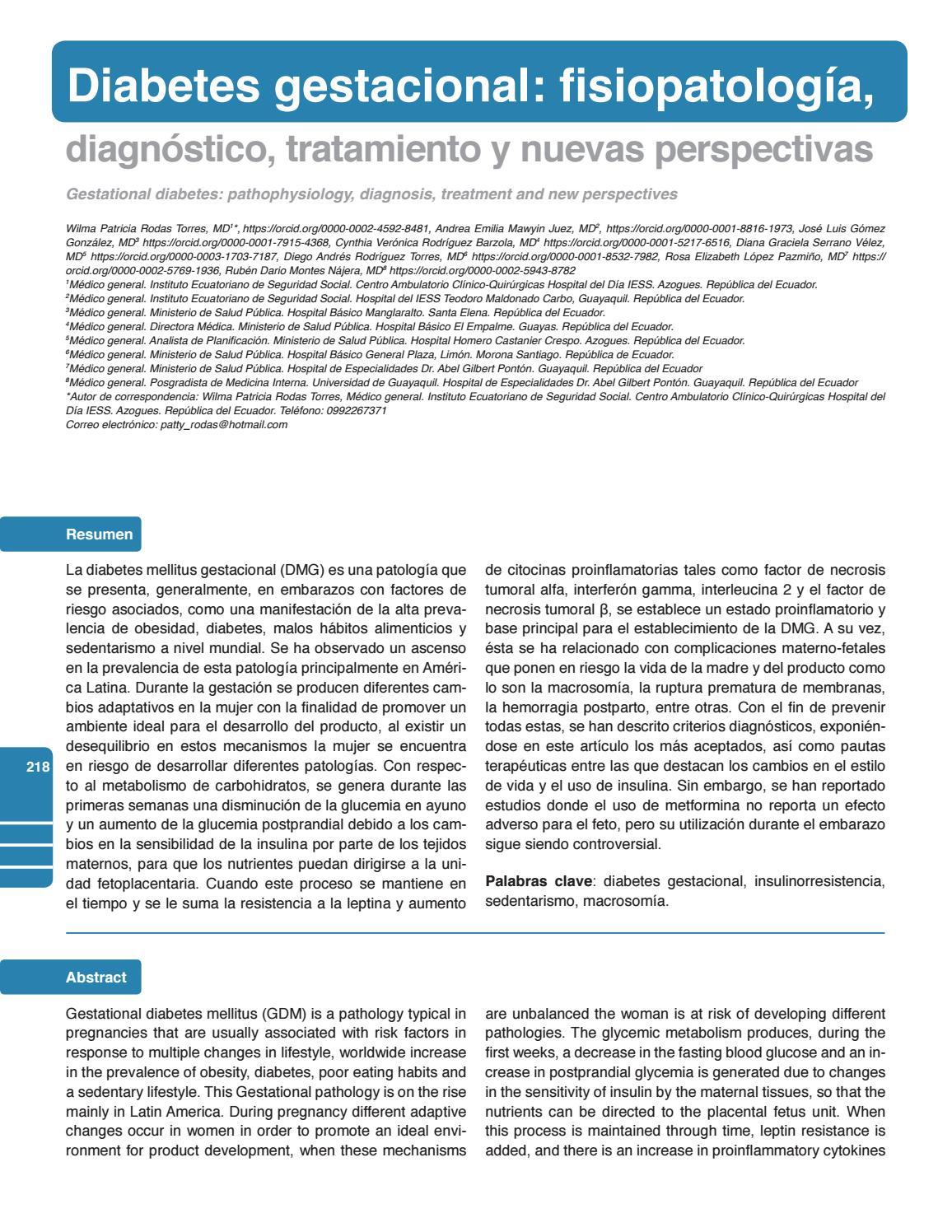 lactogeno placentario humano diabetes gestacional que