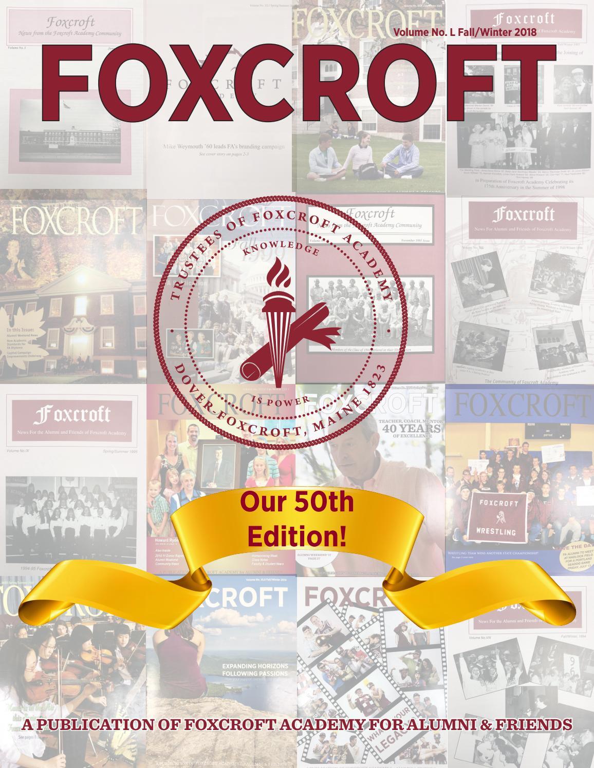 Foxcroft Academy Alumni Magazine Fall 2018 by Foxcroft