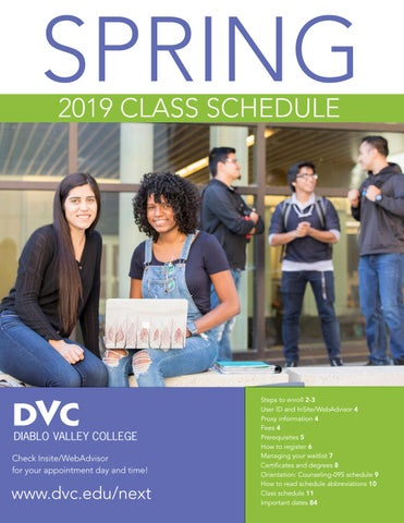 DVC Spring 2019 Class Schedule by Diablo Valley College - issuu