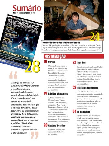 Page 6 of Sumário Edição 287 - Outubro 2018