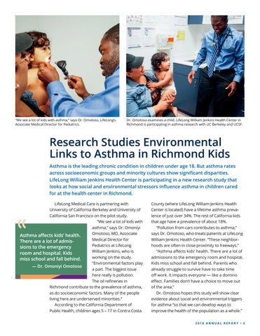Page 3 of Research Studies Environmental Links to Asthma in Richmond Kids