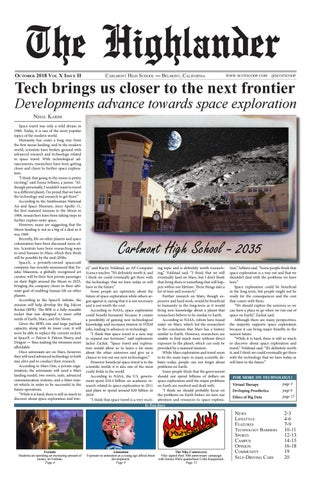 Carlmont Highlander Issue 2 October 2018 by Scot Scoop - issuu