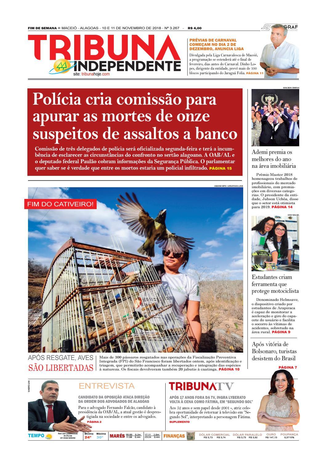 553ececf6 Edição número 3267 - 10 e 11 de novembro de 2018 by Tribuna Hoje - issuu