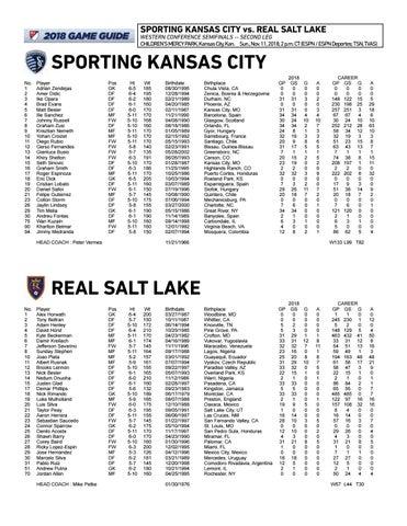 online store 8f5c3 16c9d Playoff Game Notes  Sporting KC vs. Real Salt Lake   Nov. 11, 2018 ...