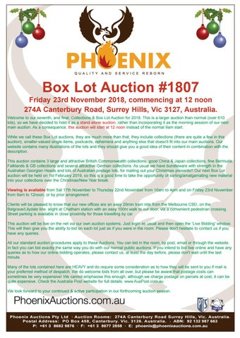 Phoenix Collections   Box Lot Auction 1807 by David Wood - issuu 993a246878713