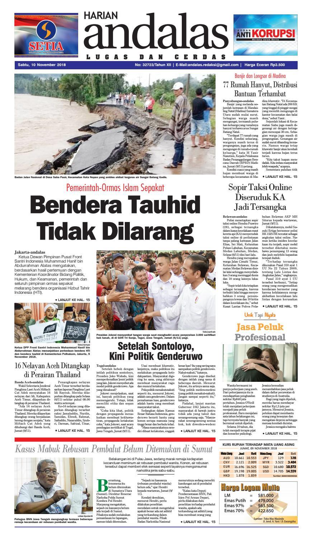 Epaper andalas edisi sabtu 10 november 2018 by media andalas - Issuu 639d319686