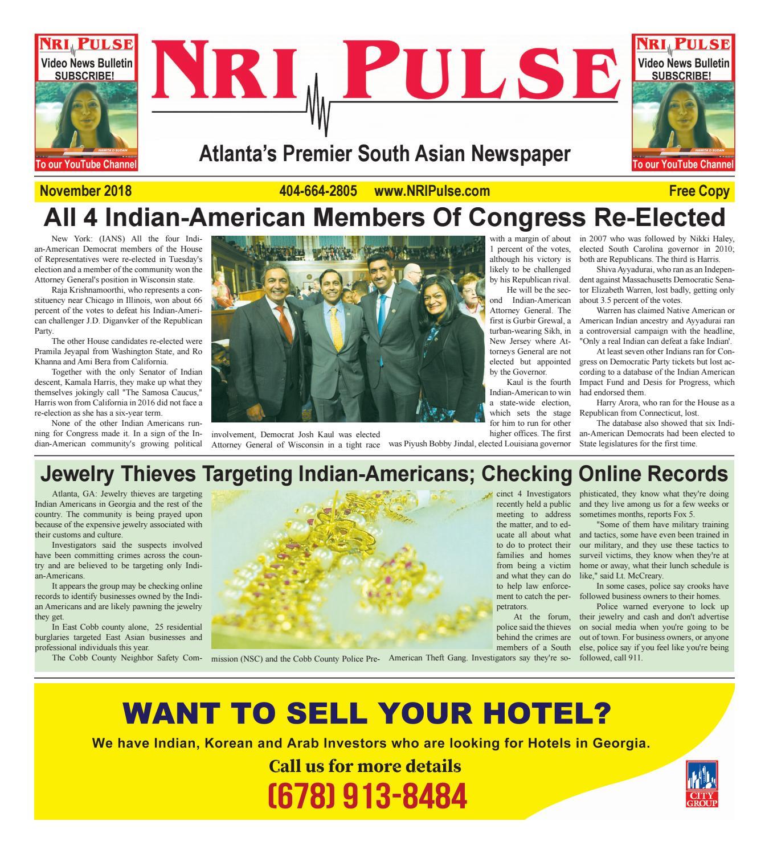 NRI Pulse November 2018 Print Issue by NRI Pulse - issuu