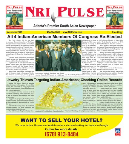 Page 5 of NRI Pulse November 2018 Print Issue