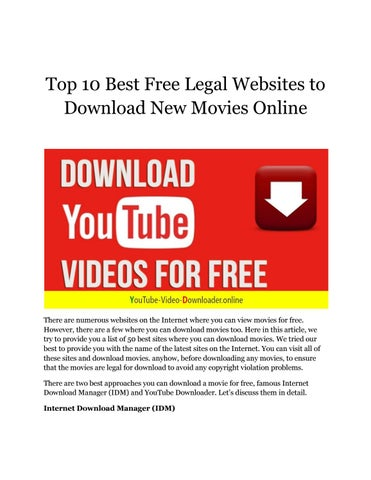 where you can download movies