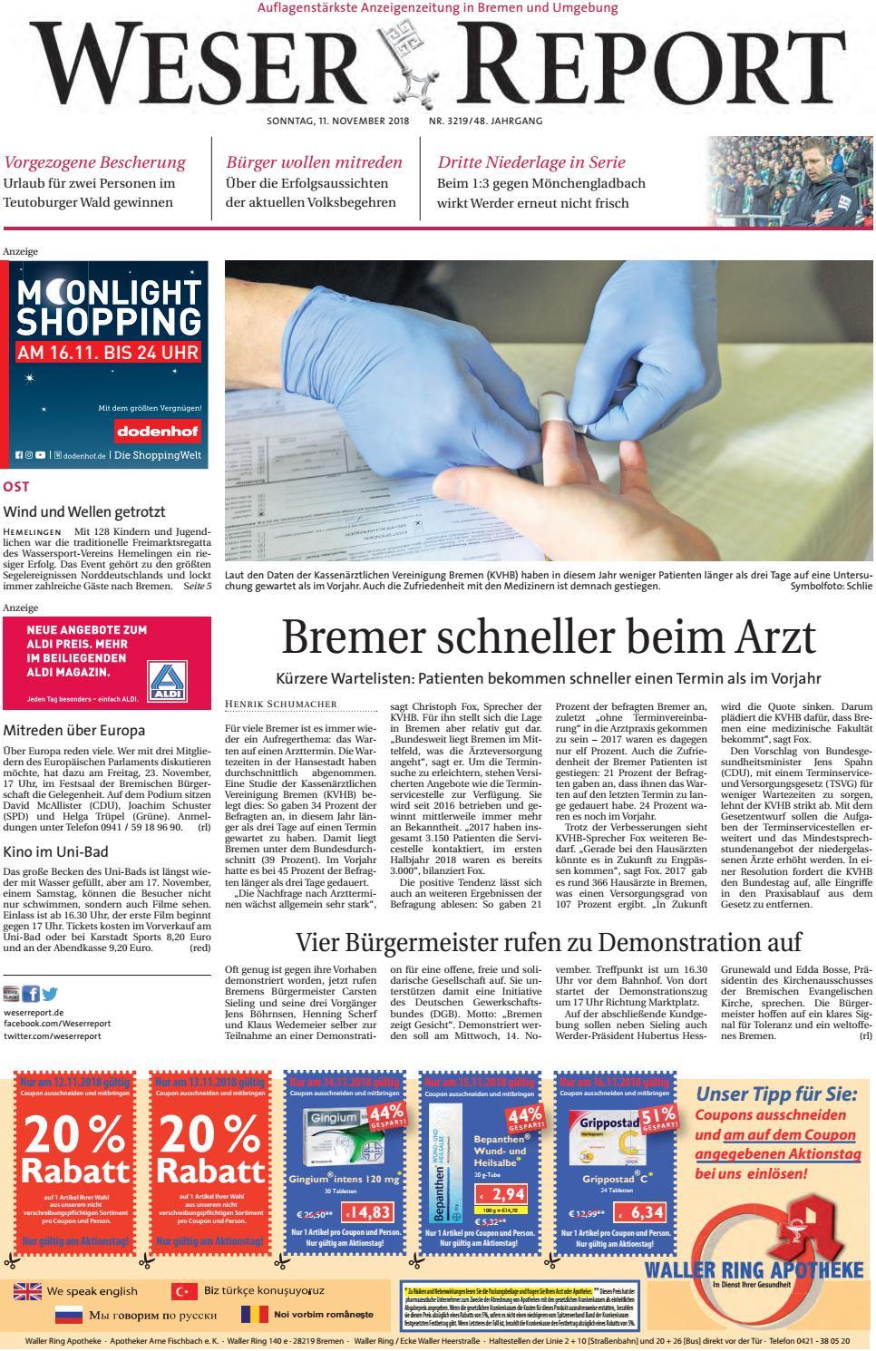 Weser Report - Ost vom 11.11.2018 by KPS Verlagsgesellschaft mbH ...