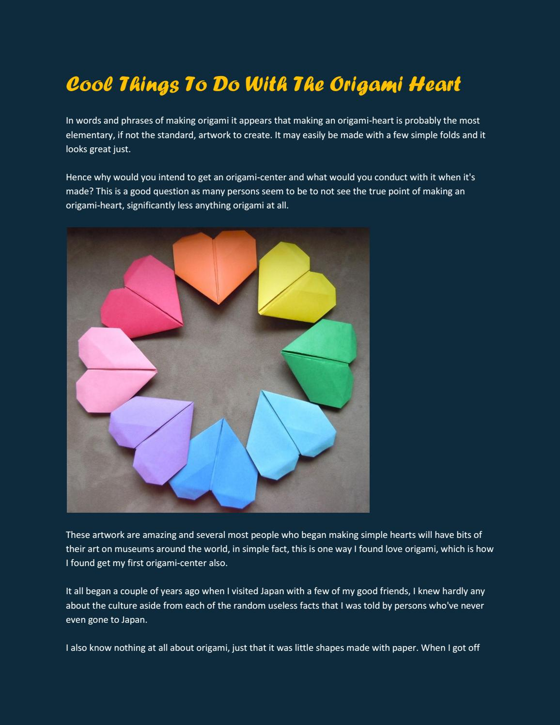 Origami Heart How-To | Easy origami heart, Origami love, Origami heart | 1496x1156
