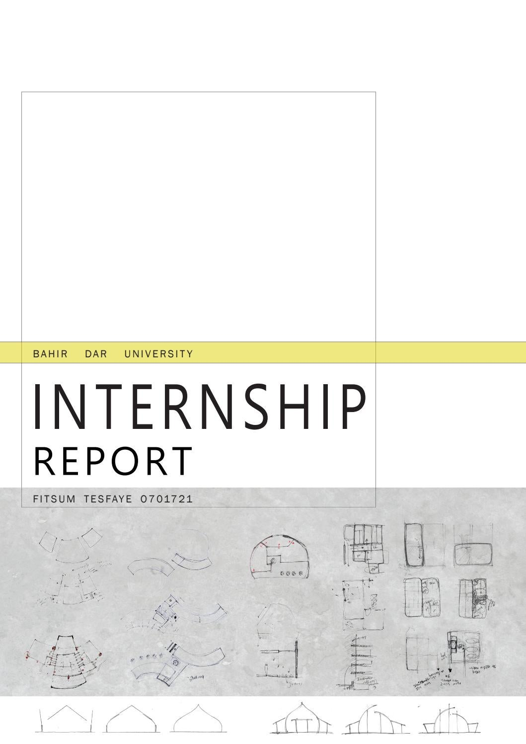 Internship Report By Fitsum Tesfaye Mamo Issuu