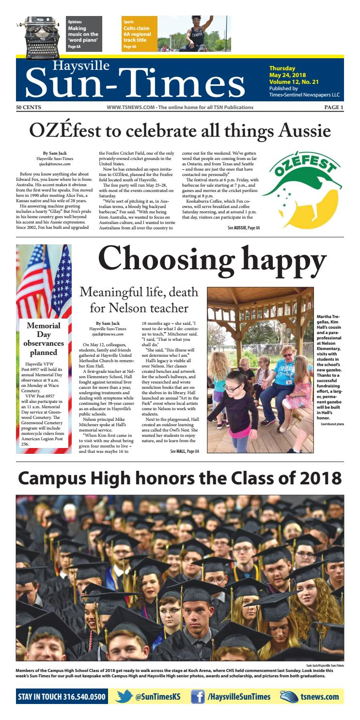 Haysville Sun-Times 05-24-18 by Travis Mounts - issuu