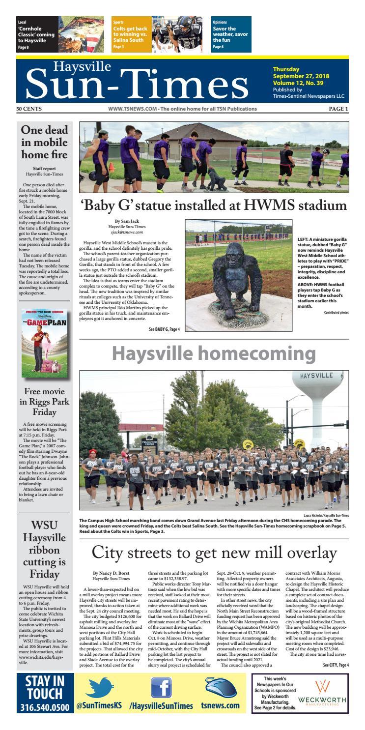 Haysville Sun-Times 09-27-18 by Travis Mounts - issuu