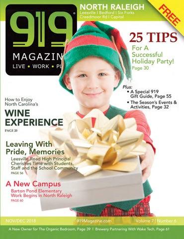 919 Magazine Nov/Dec 2018 Holiday issue North Raleigh