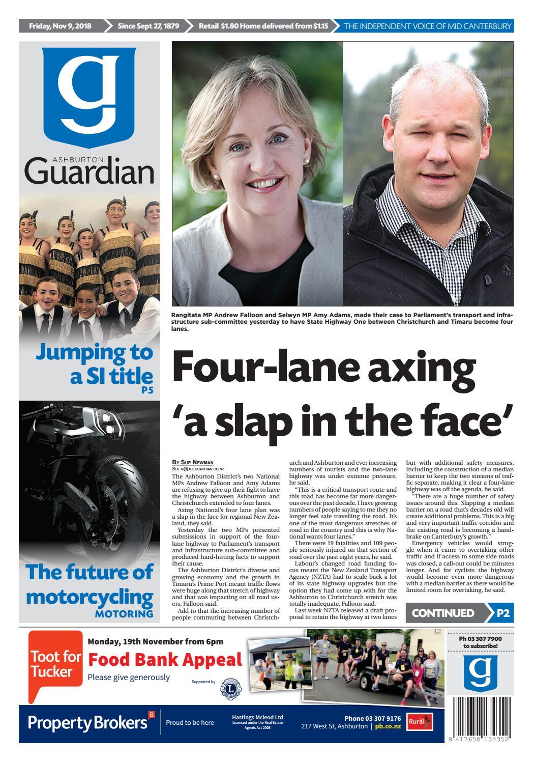 Ashburton Guardian, Friday, November 9, ...