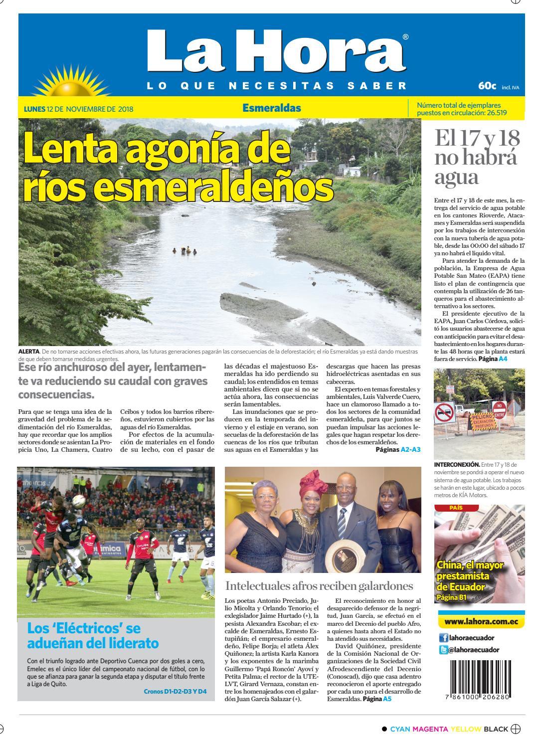 Esmeraldas 12 de noviembre de 2018 by Diario La Hora Ecuador - issuu aef6138413e