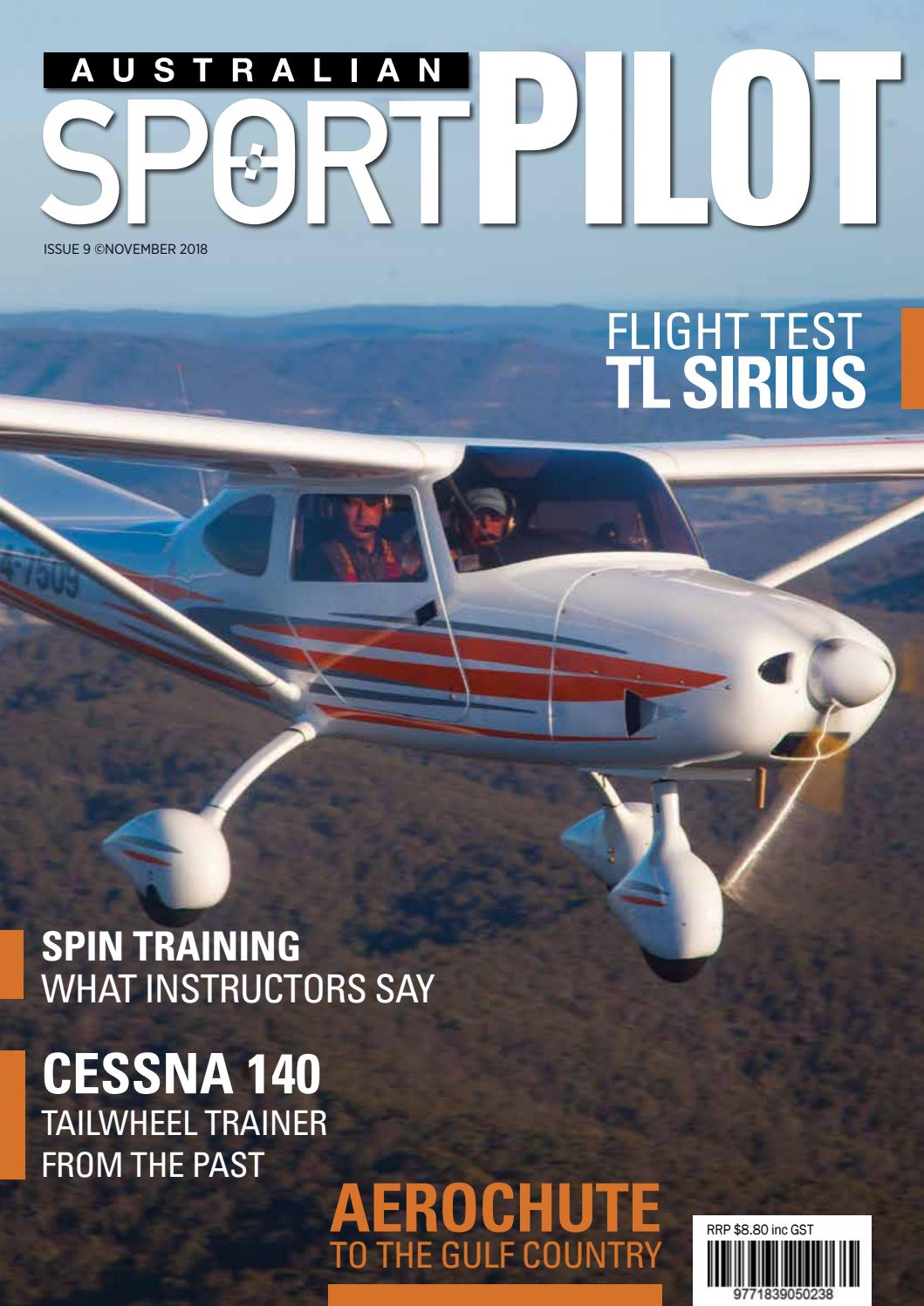 Australian Sport Pilot: Nov 2018 by Recreational Aviation