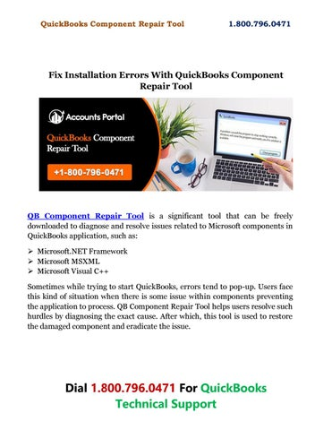 Fix Installation Errors With QuickBooks Component Repair
