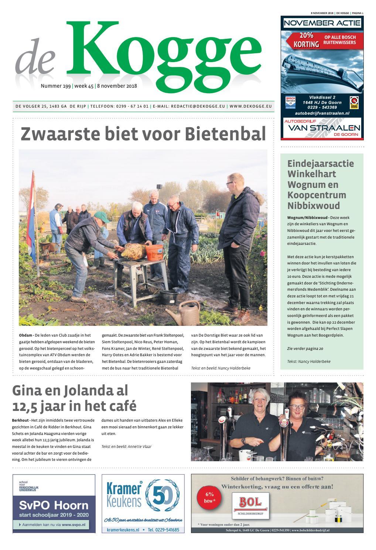 3324b51cb70413 De Kogge week 45 nr 199 2018 by Uitgeverij De Uitkomst - issuu