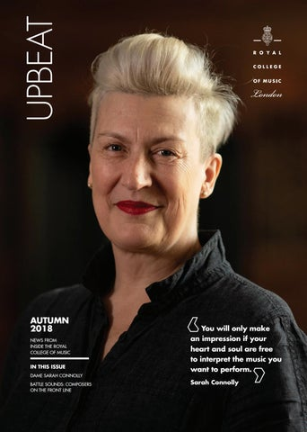 Upbeat Autumn 2018 by Royal College of Music - issuu