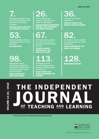 The Independent Journal of Teaching and Learning - Vol 13 (2