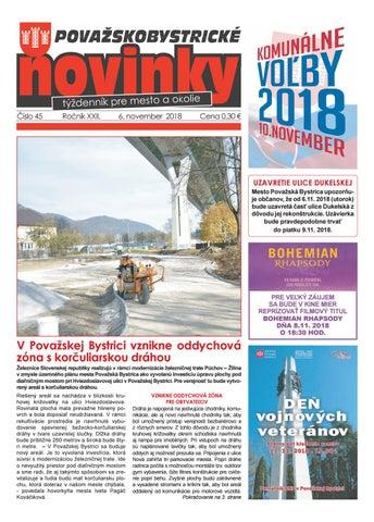 88e60054e Považskobystrické novinky č. 45/2018 by Považskobystrické novinky ...