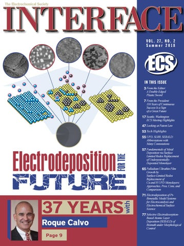 Interface Vol  27, No  2, Summer 2018 by The Electrochemical Society