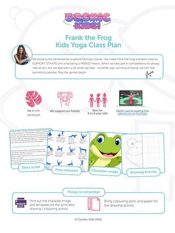 745d34634d Frank the Frog Kids Yoga Class Plan - Cosmic Kids Yoga by ...